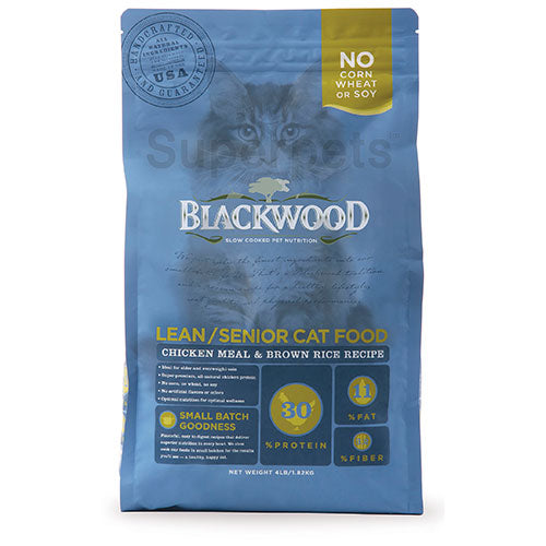Blackwood Lean/Senior Cat Food - Chicken Meal & Brown Rice Recipe | Singpet.Com