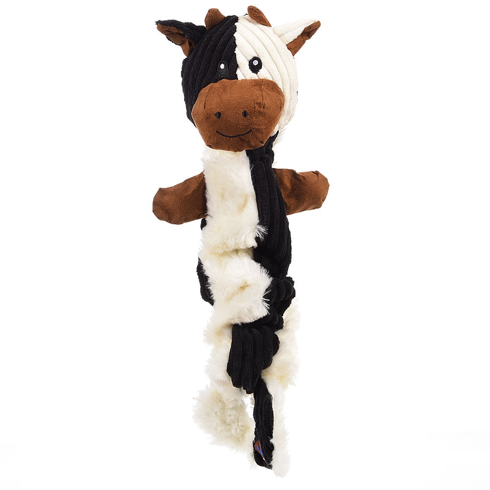 Charming Pets Tugging Talkies Dog Toy, Cow | Singpet.Com