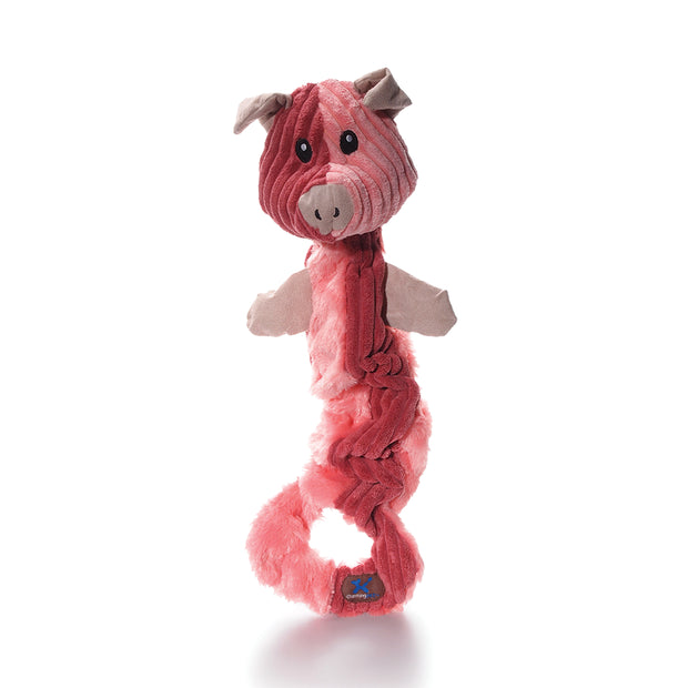 Charming Pets Tugging Talkies Dog Toy, Pig | Singpet.Com