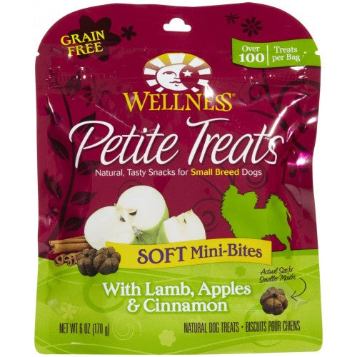 Wellness Small Breed Petite Treats For Dogs - Soft Mini-Bites with Lamb, Apples & Cinnamon | Singpet.COM