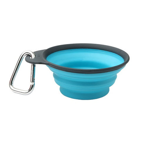 Dexas Popware Collapsible Travel Cups For Dogs & Cats, Blue | Singpet.Com.Sg