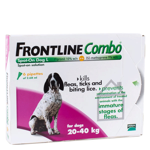 Frontline Combo Spot-on For Large Dogs 20-40 kg, 6 Pack