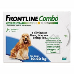 Frontline Combo Spot-on For Medium Dogs 10-20 kg, 6 Pack | Singpet.Com