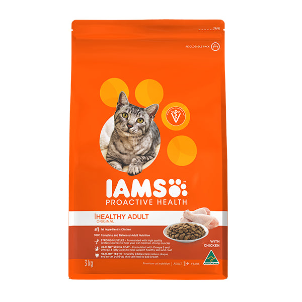 Iams Proactive Health Adult Chicken Dry Cat Food | Singpet.Com