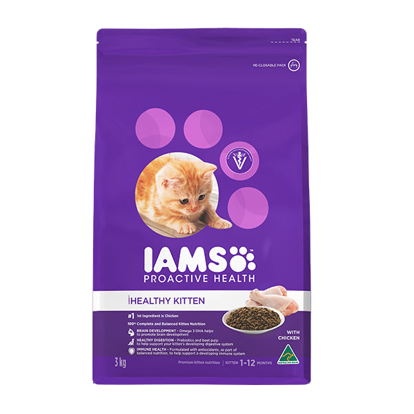 Iams Proactive Health Kitten & Junior Dry Cat Food | Singpet.Com