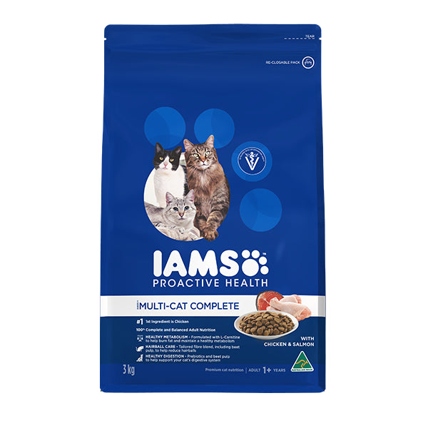 Iams Proactive Health Multi-Cat Complete with Chicken & Salmon | Singpet.Com
