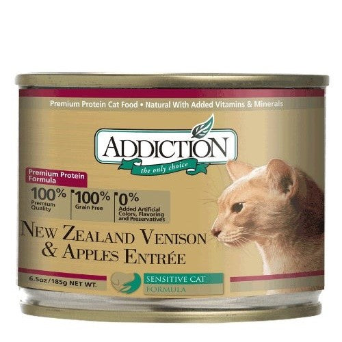 Addiction New Zealand Venison & Apples Entrée Wet Canned Food For Cats | Singpet.COM