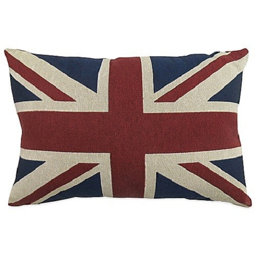 Park B. Smith Vintage House Pillow, Union Jack Pattern