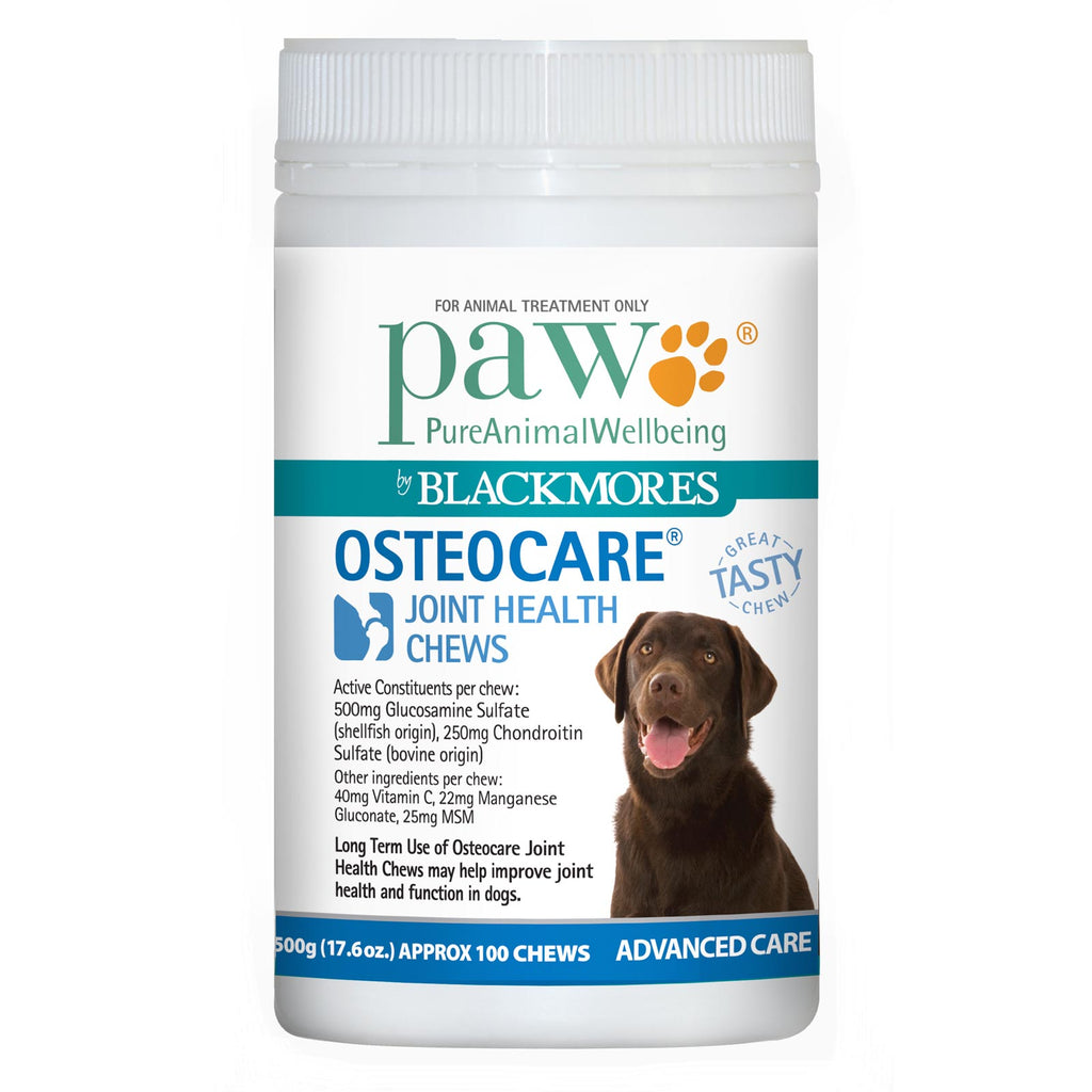 Blackmores Paw Osteocare Joint Health Chews Dogs, 500g | Singpet.Com.Sg