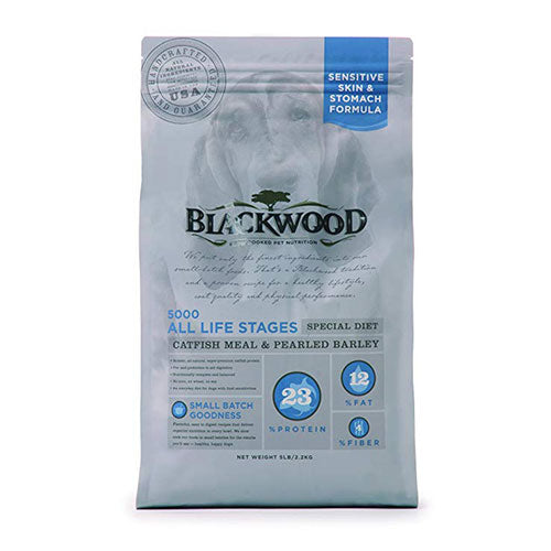 Blackwood 5000 Sensitive Skin & Stomach Formula For All Life Stages Special Diet - Catfish Meal & Pearled Barley Recipe For Dogs | Singpet.COM