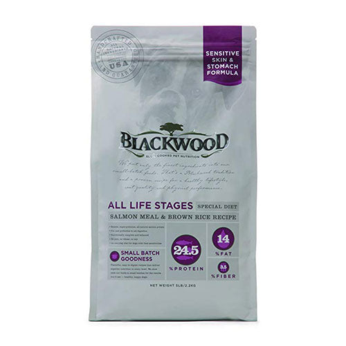 Blackwood Sensitive Skin & Stomach Formula For All Life Stages Special Diet - Salmon Meal & Brown Rice Recipe For Dogs | Singpet.COM