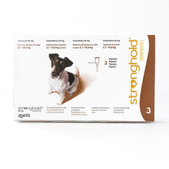 Stronghold 60 mg (Brown) spot-on solution for dogs 5.1–10 kg, 3 Pack | Singpet.Com.Sg
