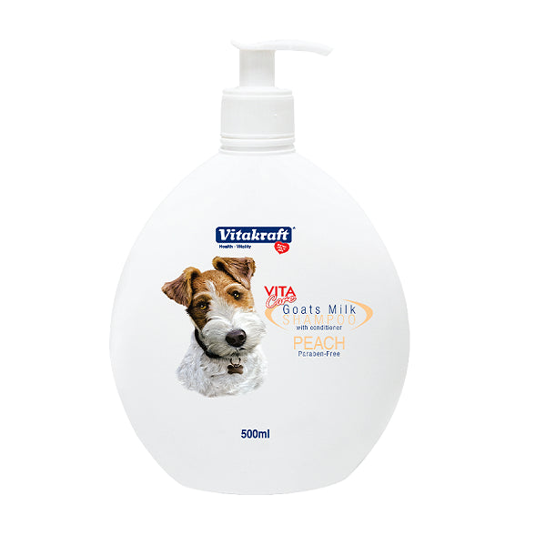 Vitakraft 2 in 1 Goat's Milk Shampoo for Dogs Peach Scented | Singpet.Com
