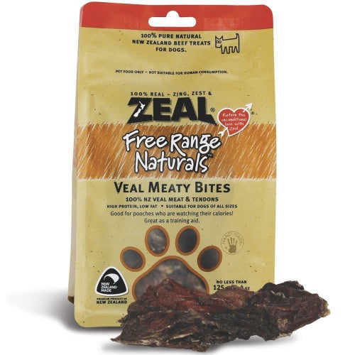 Zeal Free Range Naturals Dried Veal Meaty Bites - Dog Treats|Singpet.COM