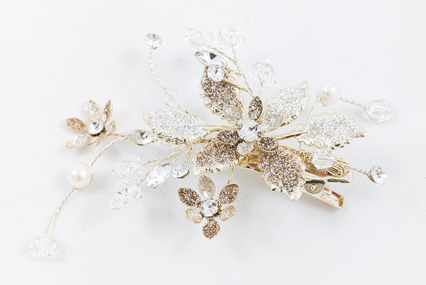 ivory knot-wedding accessories-bridal hair clip-anya