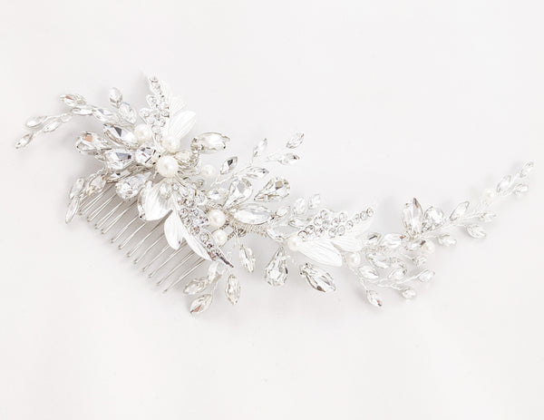 ivory knot-wedding accessories-bridal hair comb-blair-crystals