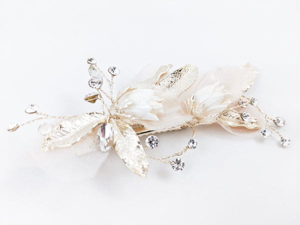 ivory knot-wedding hair accessories-bridal hair clip-gail