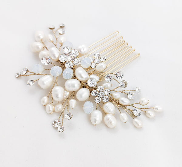 ivory knot-bridal accessories-wedding hair combs-kaya