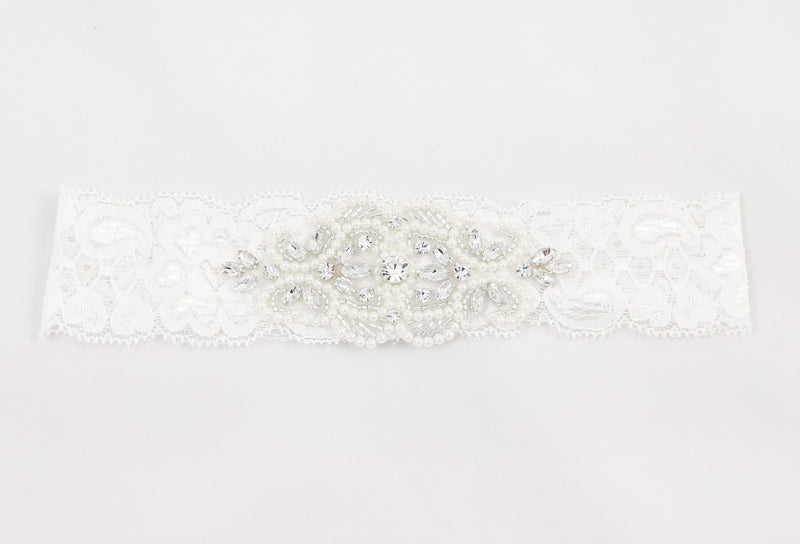 ivory knot-wedding accessories-bridal garter-milly