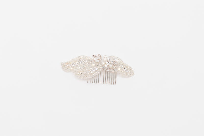 ivory knot-bridal accessories-wedding hair comb-nessa