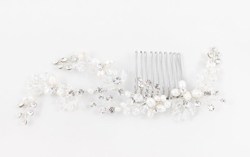 ivory knot-wedding accessories-bridal hair comb-nicole
