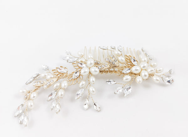 ivory knot-wedding accessories-bridal hair comb-willa