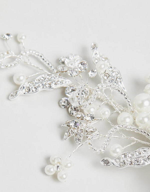 ivory knot-wedding accessories-bridal hair clips-olivia