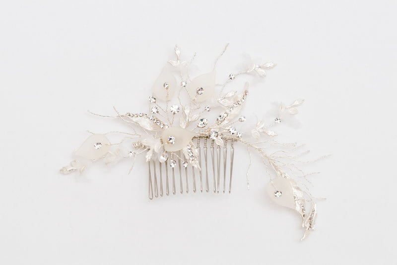 ivory knot-bridal accessories-wedding hair combs-janet