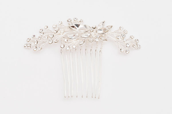 ivory knot-wedding hair accessories-bridal comb-nala