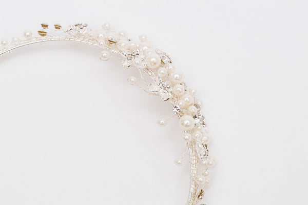 ivory knot-bridal headband-ally wedding hair accessory