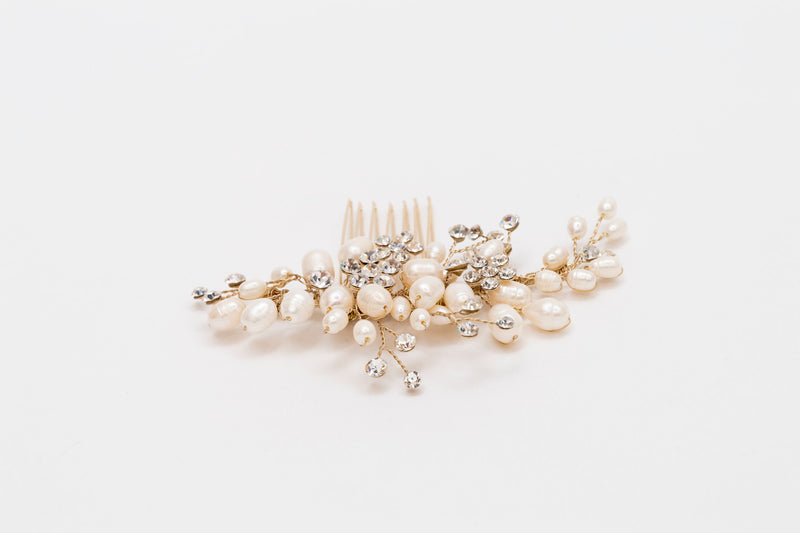 ivory knot-bridal hair pieces-wedding hair combs-kate