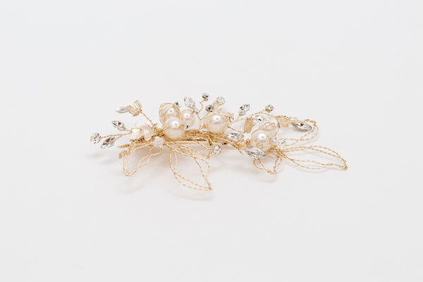 ivory knot-wedding accessories-bridal hair clips-harriet