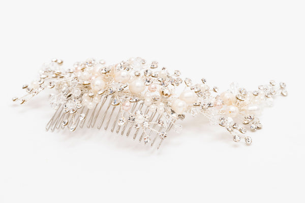 ivory knot-wedding hair combs-ariel bridal hair