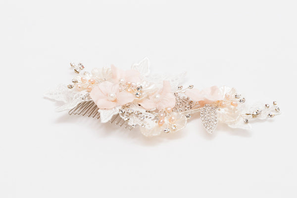 ivory knot-bridal accessories-wedding hair comb-nina