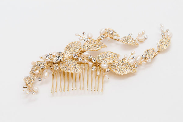 ivory knot-wedding hair accessories-bridal combs-misty
