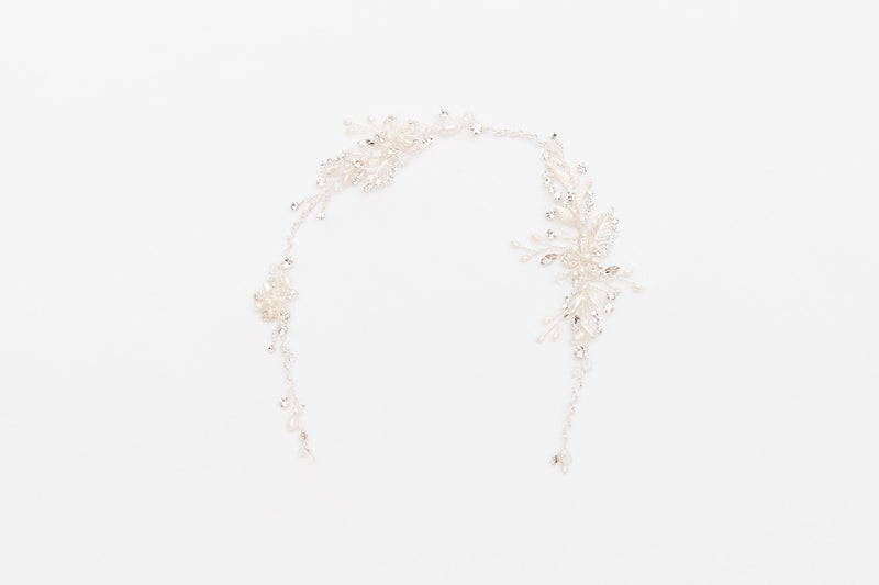 ivory knot-wedding accessories-bridal hair vine-esmerelda