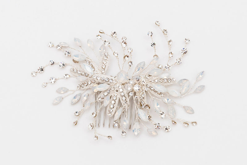 ivory knot-wedding accessories-bridal hair combs-karina