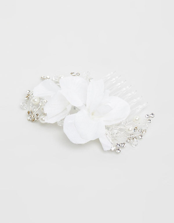 ivory knot-wedding accessories-bridal hair combs-zelda