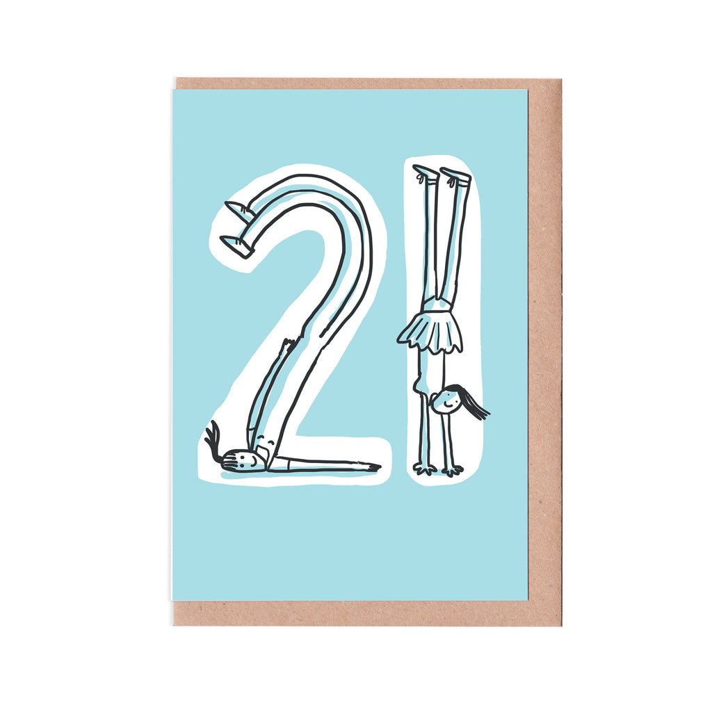 21st birthday woman card