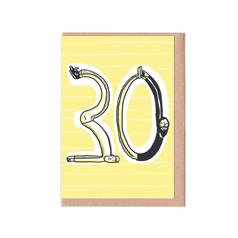 30th birthday man card