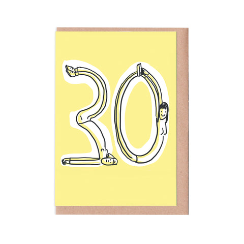 30th birthday woman card