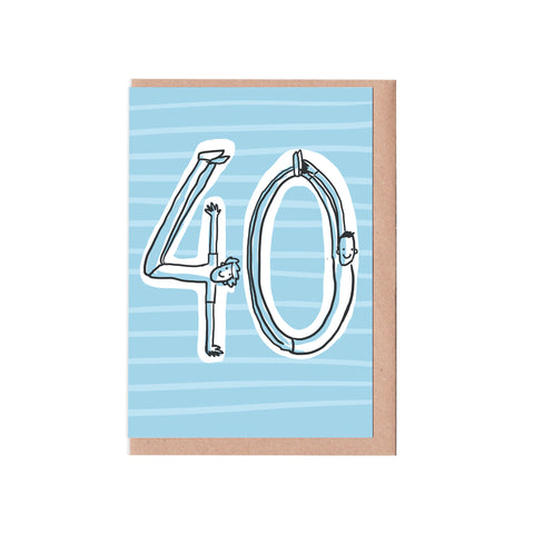 40th birthday man card