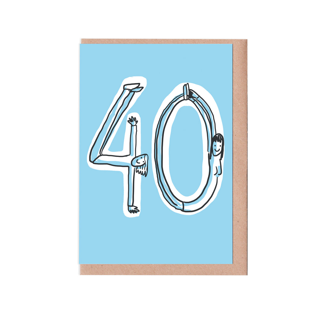 40th birthday woman card