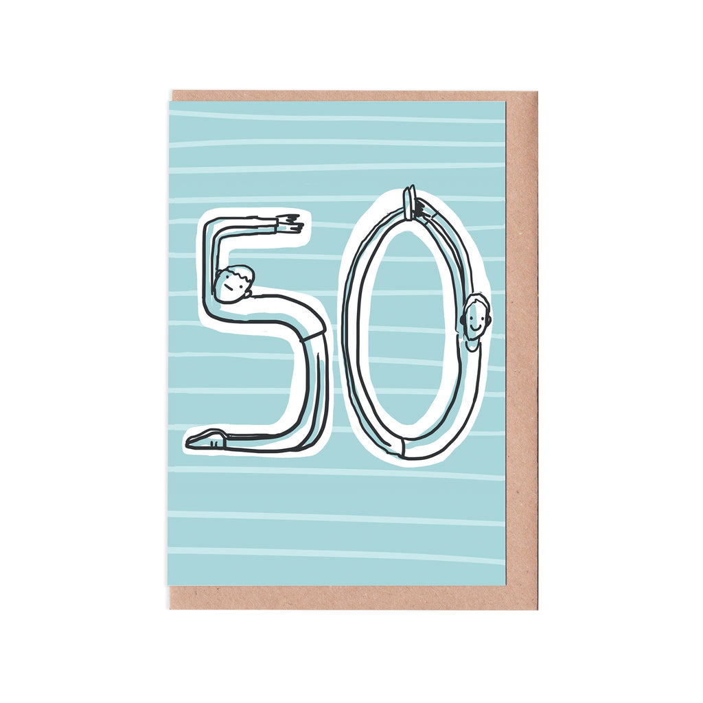 50th birthday man card