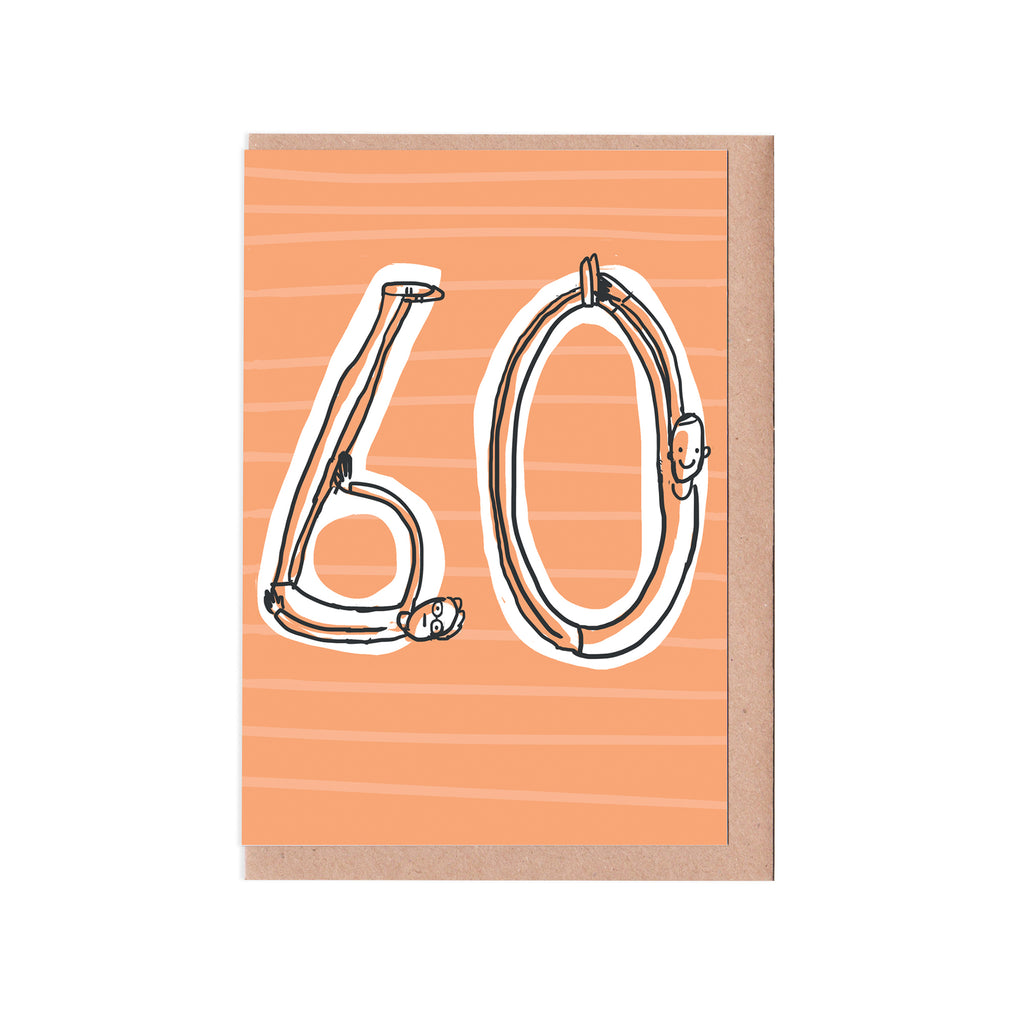60th birthday man card