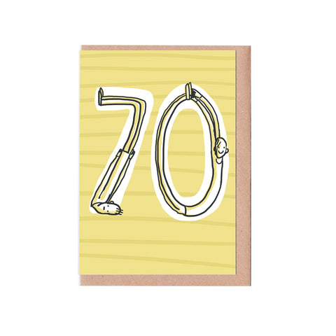 70th birthday man card