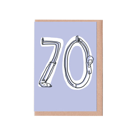 70th birthday woman card