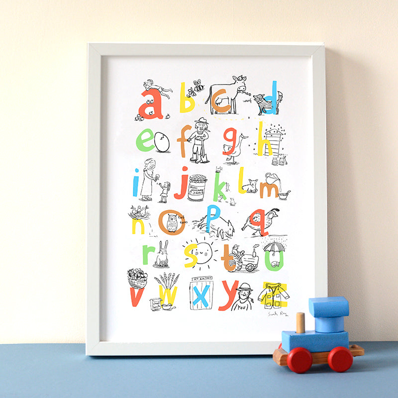 ABC Farm Themed Print