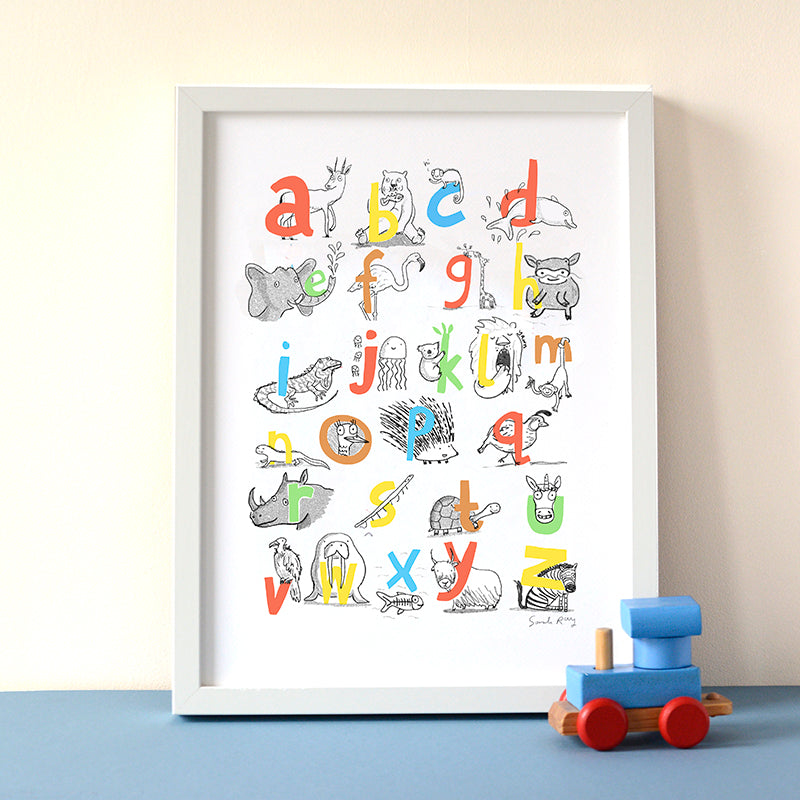 ABC Zoo Themed Print