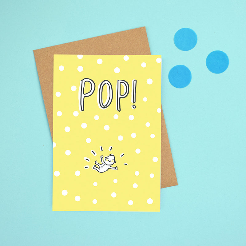 Pop! New baby card